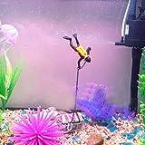 Aquarium Treasure Chest Diver Fish Tank Landscape Ornament Decoration
