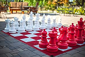 """MegaChess Red Giant Plastic Chess Set with a 25"""" King"""