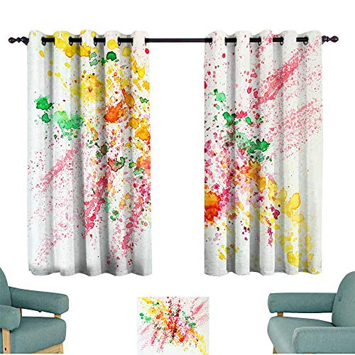 Light luxury high-end curtains Abstract watercolor bright colorful background painting with spray spots splashes Hand drawn on paper grain texture For modern pattern wallpaper banner design Set of Tw