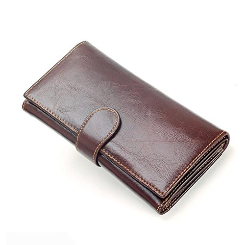 Men Fold Card Dark Multifunction Honey Wallet Section High Capacity WALLETS Long Brown Package Ftxnxp