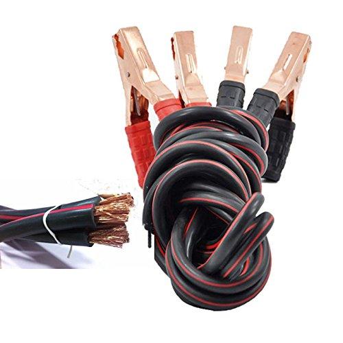 Cables de arranque de alta resistencia (2500 A, calibre 1, 100 % cobre) para camión, pinzas con aislamiento térmico y anticongelación, ...