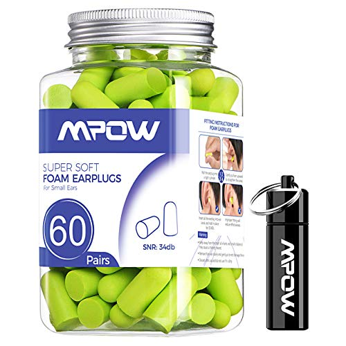 Mpow Soft Earplugs 60 Pairs for Small-Sized Ears