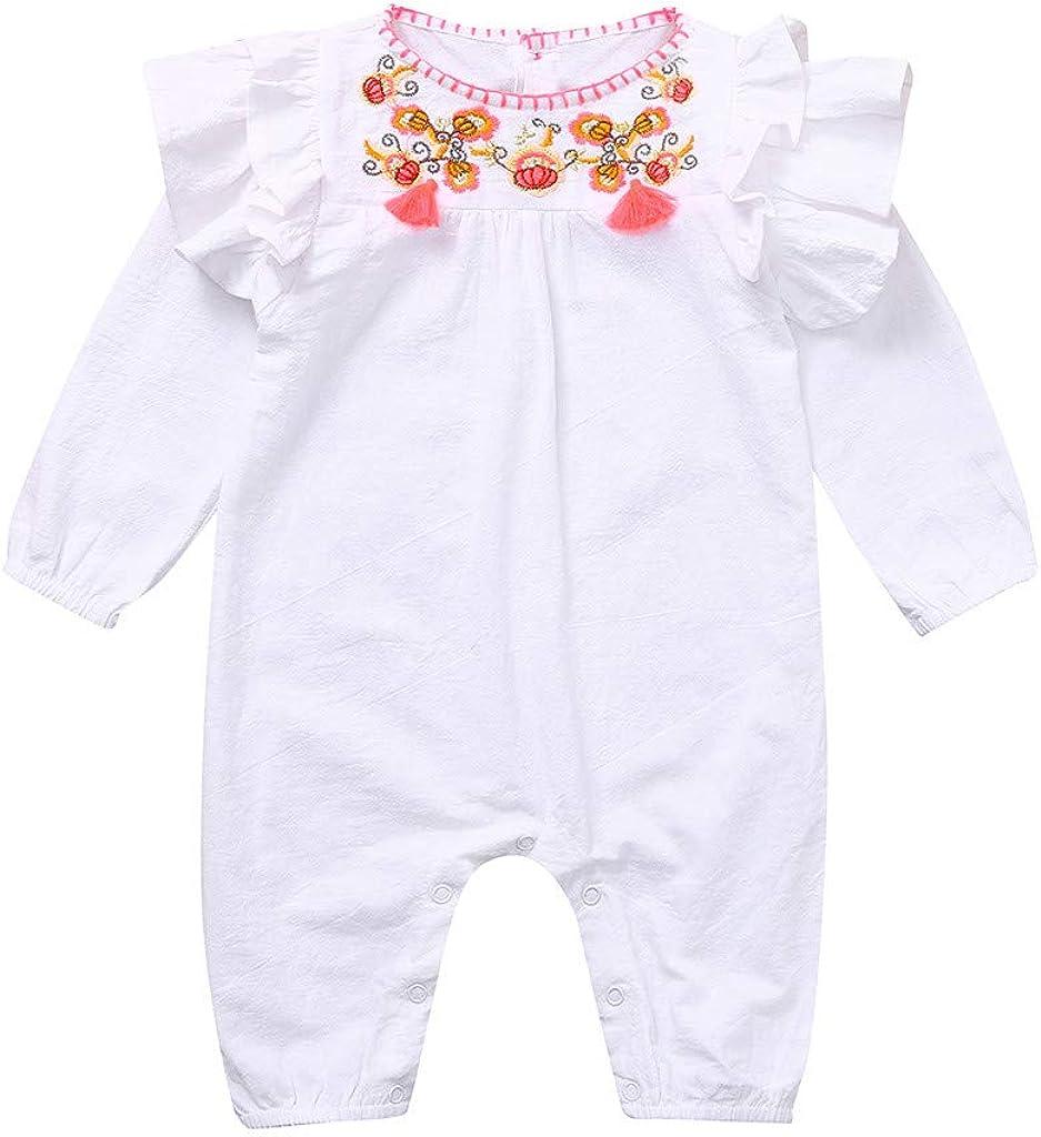 YWLINK Bebé ReciéN Nacido Bebé NiñAs Volantes Bordado Floral ...