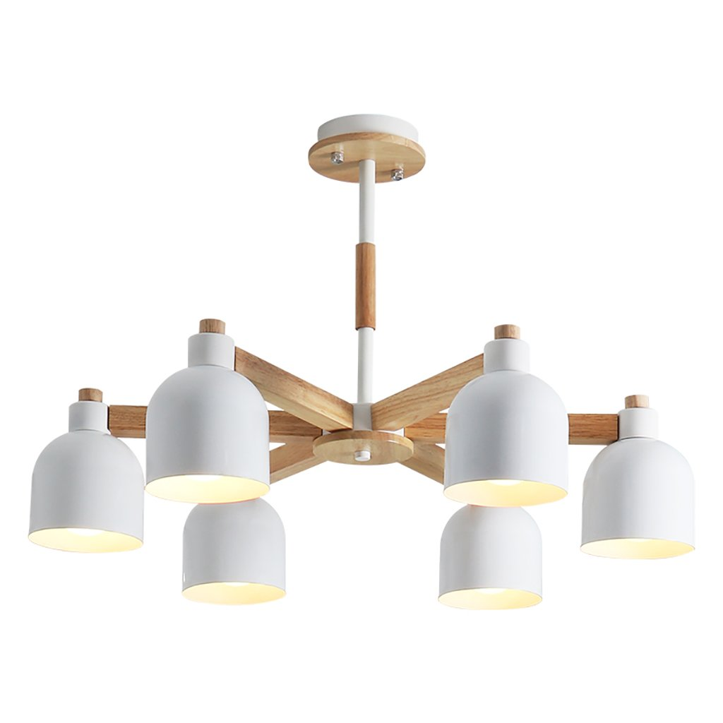 クリエイティブリビングルームシャンデリア北欧レストランのライト個性木製の寝室のランプ現代的なミニマムランプ鉄の研究照明 B07JM2ZLTW