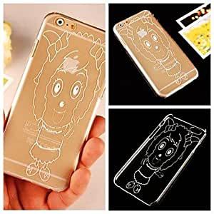 DD Beautiful Sheep Pattern Transparent Back Case for iPhone 6 Plus