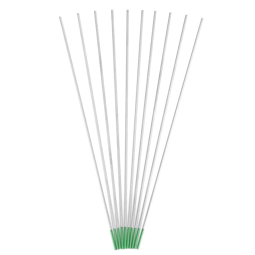 1.0mm*175mm 10 St/ücke Reine Wolframelektrodenstange Professionelle Gr/üne Spitze Tig Stick f/ür AC Schwei/ßger/ät WP