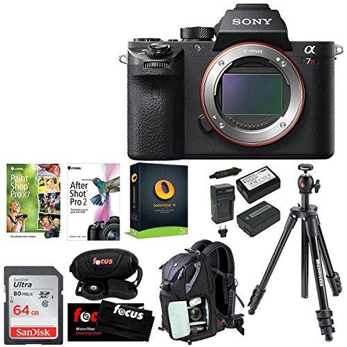 - Sony Alpha a7RII Mirrorless Camera w/ 64GB SD Card & Corel Suite Bundle