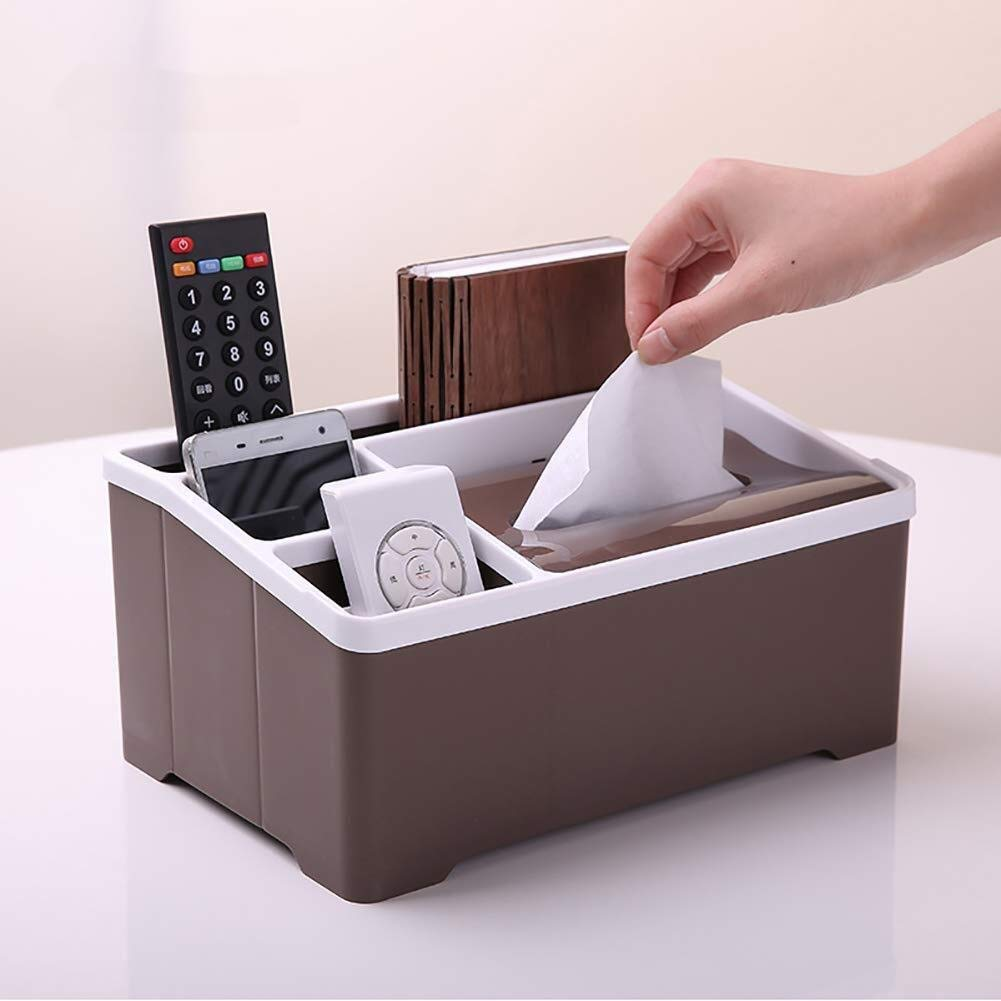 HapHomeSPus Tissue Box,Home Office Tidy Desk Organiser Card Remote Control Cell Phone Pen Pencil Pots Holder Stationery Storage Box Home Office Lavatory Automotive Decoration (Size : A) by HapHomeSPus