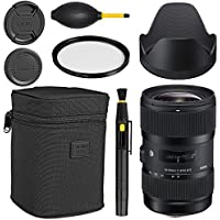 Sigma 18-35mm f/1.8 DC HSM Art Lens for Canon + Essential Bundle Kit + 1 Year Warranty - International Version