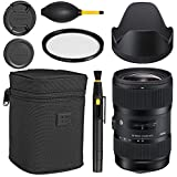 Sigma 18-35mm f/1.8 DC HSM Art Lens for Canon -Black + Essential Bundle Kit + 1 Year Warranty - International Version (No Warranty)