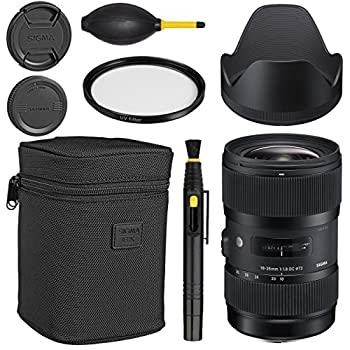 Image of Accessory Kits Sigma 18-35mm f/1.8 DC HSM Art Lens for Canon -Black + Essential Bundle Kit + 1 Year Warranty - International Version (No Warranty)
