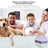 BedStory Memory Foam Topper with White Soft Knitted
