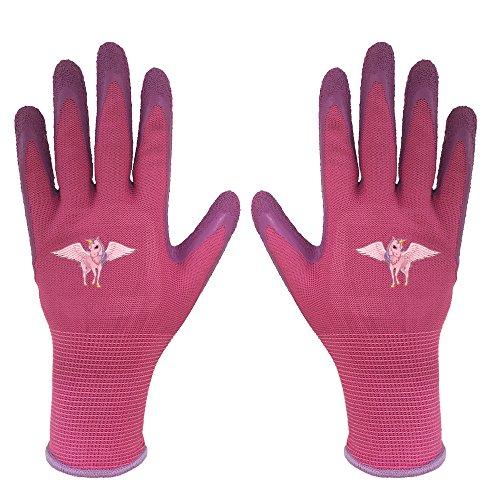 Children Gloves Gardening Work Gloves - PROMEDIX -Gardening Gloves for Children, Gloves for Teens 8-14 Years Old (Pink)
