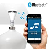 "SOUNDLAMP Dimmable Cool White LED Bulb w 7W and up to 650 Lumens, Built in 2.5"" A2DP Bluetooth Speaker with 3W Power (1)"