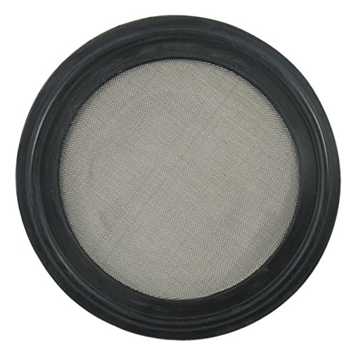 "Buna Sanitary Tri-Clamp Screen Gasket, Black - 2"" w/ 60 Mesh (316L Stainless Steel)"