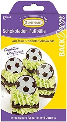 Günthart 12 günth backdecor de balones de fútbol de Chocolate ...
