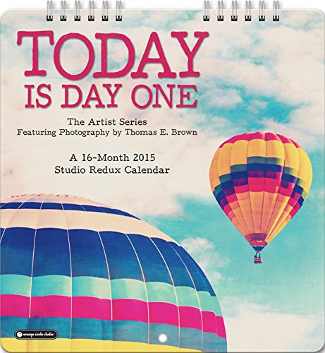 Orange Circle Studio 2015 Studio Redux Mini 16-Month Wall Calendar, Today Is Day One by Thomas Brown (14541)