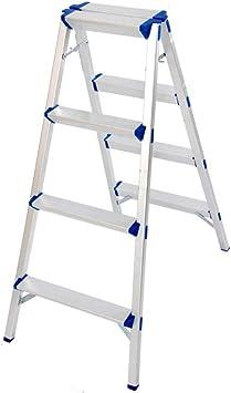 Multifuncional Dos caras de ingeniería Escaleras de aleación de aluminio Escalera del taburete/parque/granja Escalada Escalera plegable Escalera 3 4 Escalera plegable estable (Size : 52 * 108cm): Amazon.es: Bricolaje y herramientas