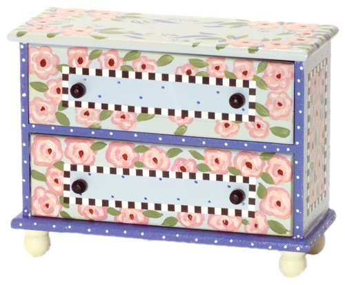 1:12 Scale 2-drawer Rose Chest #Ewdp2128 AZTEC IMPORTS