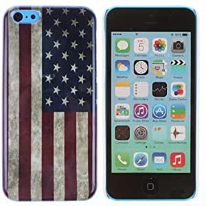 HP Retro Stars and Stripes Pattern PC Hard Case for iPhone 5C