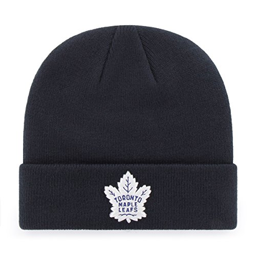 OTS NHL Toronto Maple Leafs Raised Cuff Knit Cap, Navy, One ()