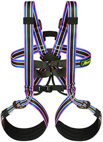 ZAIHW 登山ロッククライミング懸垂下降ギアアウトドアツリーが外側バンドの拡大トレーニング登山クライミングのための安全ハーネスのフルボディセーフシートベルトを登山キッズ