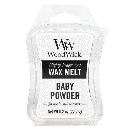 Woodwick Mini Wax Melt Baby Powder, White 57099