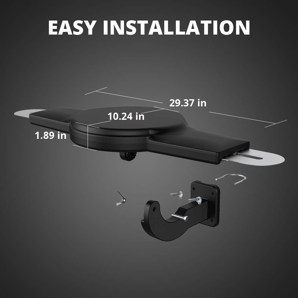 ANTV Amplified Outdoor HDTV Antenna, 360° Omni-Directional VHF/UHF Enhanced Reception Fit Indoor/Outdoor/RV/Attic Use, 70 Miles Long Range TV Antenna with 33ft High Gain coaxial Cable by ANTV (Image #2)