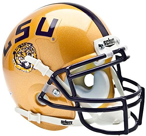 (NCAA LSU Tigers Collectible Alt 1 Mini Helmet,)