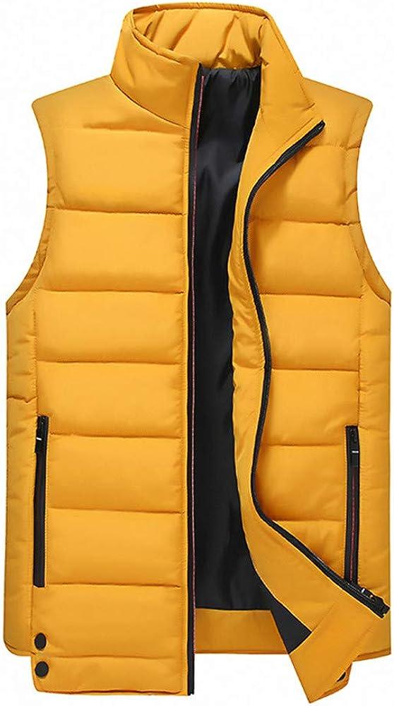 Homme Hiver Manteau,Subfamily Hommes Gilet sans Manches Blousons Chaud Manteau D/'Hiver Automne Doudoune Homme Veste /à Glissi/ère Jacket Blouson Outwear Coat