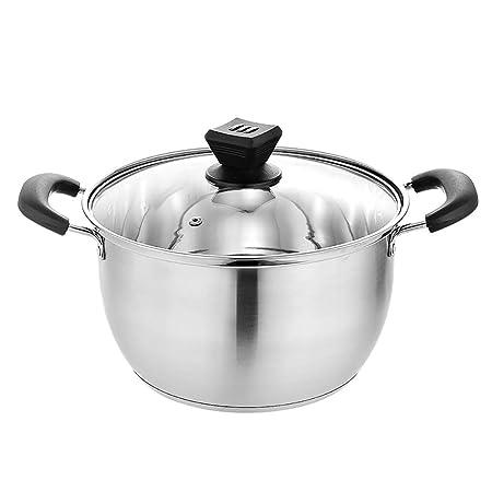 Olla de cocina de acero inoxidable con fondo de compuesto ...