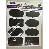 64 Reusable Reusable (8 Sheet Pack) Premium Quality Black Decorative Adhesive Stickers-Pantry Storage Organizer, Mason Jar Chalk Labels, Gift Tags, Classroom Organization - Write Peel and Stick!