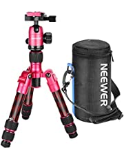 Neewer Carbon Fiber 20 inches/50 Centimeters Portable Travel Desktop Mini Tripod with 360 Degree Ball Head,Quick Shoe Plate,Bag for DSLR Camera,Video Camcorder up to 11 pounds/5 kilograms T350C(Red)