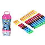 Shackgear 12 Colors Crayons - Real Soft , Non-Toxic for School Project or Drawing