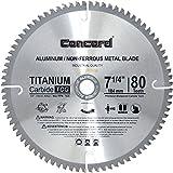 Concord Blades ACB0725T080HP 7-1/4-Inch 80 Teeth TCT Non-Ferrous Metal Saw Blade