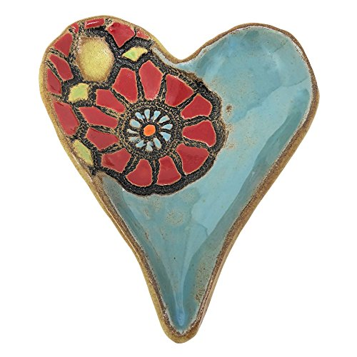 Footed Decorative Bowl (Laurie Pollpeter Eskenazi Playful Poppy 6-inch Footed Heart Dish)