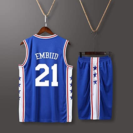 another chance ea24a 23b9f Amazon.com : YUNDONG Raptors 76ers Basketball Uniforms ...