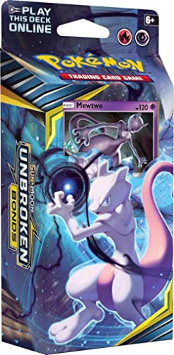 Pokemon TCG: Sun & Moon 10 Unbroken Bonds Theme Deck - Mewtwo