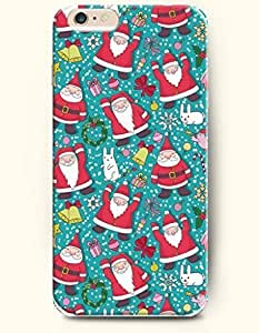 SevenArc New Apple iPhone 6 ( 4.7 Inches) Hard Case Cover - Different Gesture of Cute Nice Santa Claus