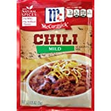 McCormick MILD CHILI Seasoning Mix 1.25oz (10 Packets) by McCormick