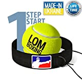 LOM Fight Ball Reflex, Boxing Ball, Red Blue Design, Boxing Equipment, Trainer Workout Fitness, Boxing Headband String Boxing Tennis Ball Speed Punch, Punching Ball All Ages