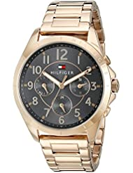 Tommy Hilfiger Womens 1781606 Casual Sport Analog Display Quartz Rose Gold Watch