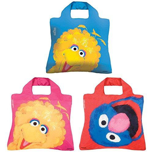 (Envirosax Sesame Street Pouch, Set of 3 Reusable Shopping Bags, Big Bird &)