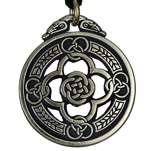 Pewter Celtic Knot Warrior Quatrefoil Shield Pendant