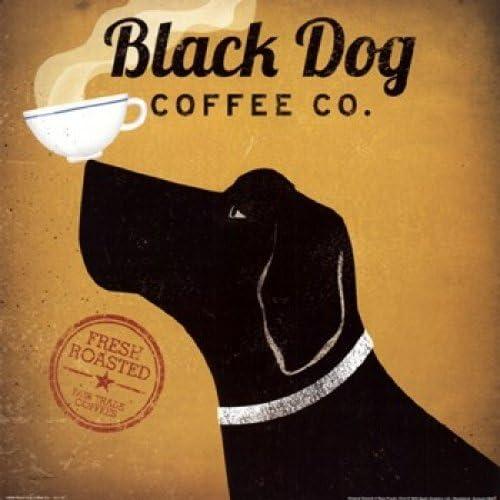 Labrador Coffee Co by Ryan Fowler Dog Coffee Print 12x12