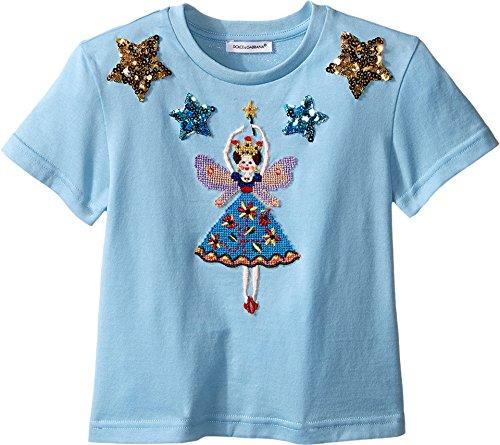 Dolce & Gabbana Kids Girls' City Short Sleeve T-Shirt (Toddler), Light Blue Print, 6 Little Kids by Dolce & Gabbana