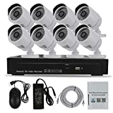 8 Channel NVR Video Security Camera System - Sea Wit (8) 1080P HD POE IP Cameras 3TB Hard Drive IP66 Weatherproof