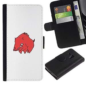 NEECELL GIFT forCITY // Billetera de cuero Caso Cubierta de protección Carcasa / Leather Wallet Case for Samsung Galaxy S3 MINI 8190 // Cerdo Bore Red