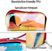 Amazon.com: Bolsa de maquillaje holográfica transparente ...