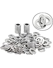 FANHAY 100 PCS Oil Crush Washers/Drain Plug Gaskets Washers Seals Rings 90430-12031 for To-yo-ta,Le-xus,Sc-ion